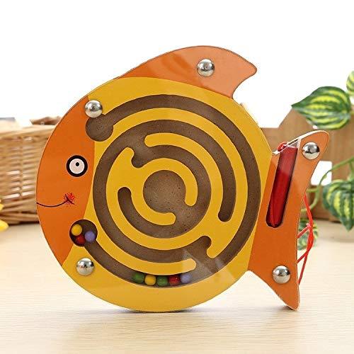 Darlinton & Sohns kleine vis labyrinth spel van hout behendigheidsspel kinderen motorische vaardigheden reis-spel motoriek spel