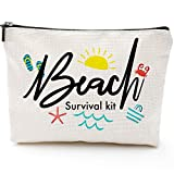 Makeup Bag for Women,Adorable Roomy Makeup Bags -Beach Survival Kit -Travel Waterproof Toiletry Bag Accessories Organizer Gifts