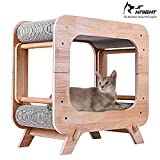 <span class='highlight'>JR</span> <span class='highlight'>Knight</span> Cat House Pet Bed Cave with Scratching Pad,Cat TV design Kitten Lounge, Cardboard Scratcher for Cat
