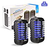 ANCROWN Bug Zapper Mosquito Killer, 2 Packs Indoor Plug-in Electric Insect Repellent with UV Light, Power Portable Odorless Noiseless Fly Killer for Mosquitoes Fruit Flies and Flying Gnats