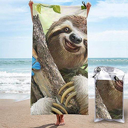Black-Sky Schnelltrocknendes Handtuch für die Reise Strand Bad Schwimmen Camping - Süße Faultier NatSchnelltrocknende Badetücher