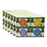 Die Reinste Kokosseife DER WELT Aus 100% Bio Kokosöl | Vegane Naturseife | Fairtrade | Nachhaltige Produktion | Ohne Palmöl | Gemischt: Pur & Geruchlos, Zitronengras, Lavendel, Patschuli, 24 x 100g