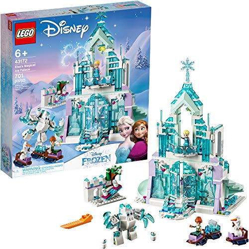 LEGO Disney Princess Elsa's Magical Ice Palace 43172 Toy Castle Building Kit with Mini Dolls, Castle Playset with Popular Frozen Characters including Elsa, Olaf, Anna and more, New 2019 (701 Pieces)
