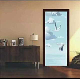 Dana Cronin Non Adhesive Frosted Window Film Glass Stickers,Field Scarecrow Door Stickers for Bathroom Living Room PVC Waterproof Mural Decal 3D Self Adhesive Wallpaper (15 x 78.7 Inch)