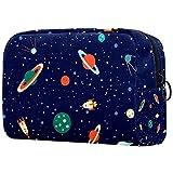 Bolsa cosmética para mujer, planetas espaciales, órbitas,