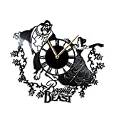 AroundTheTime - Beauty and The Beast Wall Clock, Gift Decor from Vinyl Record