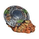 LOVIVER Acuario Ornamento Creativo UFO Wreck Micro Paisaje pecera decoración Suministros