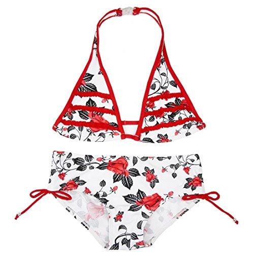 Changhants Costume da bagno per bambini due pezzi Set da bikini per bambini 8-16 anni Costume da bagno per bambini 2 pezzi Costume da bagno per bambino Ragazza Abbigliamento da spiaggia