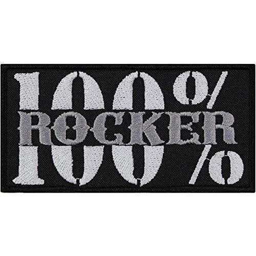 Parche para coser o planchar, diseño rockero, 100 % rockero, ideal pa