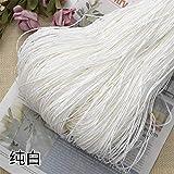 Hilo de Paja de Rafia Crochet para Tejer DIY Sombrero de Paja de Verano Bolsos Cojines Cestas Material Hilo 500 g/Lote, Blanco