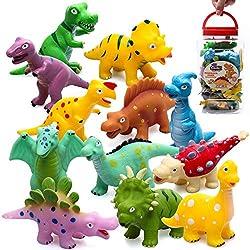 8. Hely Cancy Baby Dinosaur Squirter Bath Toys (16 Pieces)