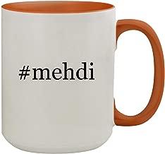 #mehdi - 15oz Hashtag Colored Inner & Handle Ceramic Coffee Mug, Orange