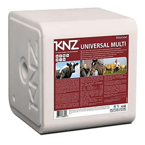KNZ 10kg UNIVERSAL MULTI Lecksteine je 10kg Mineralleckstein Salzleckstein Rinder Kälber Ziegen Pferde Weiß 10kg