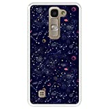 Hapdey Funda Transparente para [ LG G4 Mini - G4c - Magna ] diseño [ Patrón de constelación, Galaxia ] Carcasa Silicona Flexible TPU