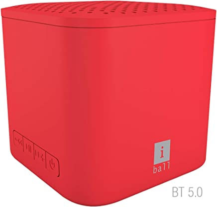 iBall MusiPlay A1 Wireless Ultra-Portable Bluetooth Speakers (Hot Red)