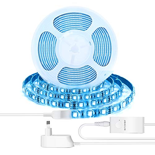 LED Streifen, BlitzWolf 2M Smart LED Lichtleiste Lichtstreifen Lichterkette mit 4000K Farbtemperatur, RGB-Farbe, APP-Steuerung, Kompatibel mit Alexa & Google Assistant für Haus,Garten,Schlafzimmer