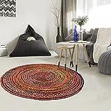 Jadorel - Alfombra Kilim (140 x 140 cm, redonda), diseño de allana multicolor