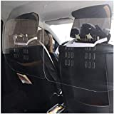 XIAN-jing 2PCS Spit Protection Partition for Cars & Taxis, Plexiglass Partition, Spit Protection Partition Design for Use in Larger Cars, SUVs and Vans