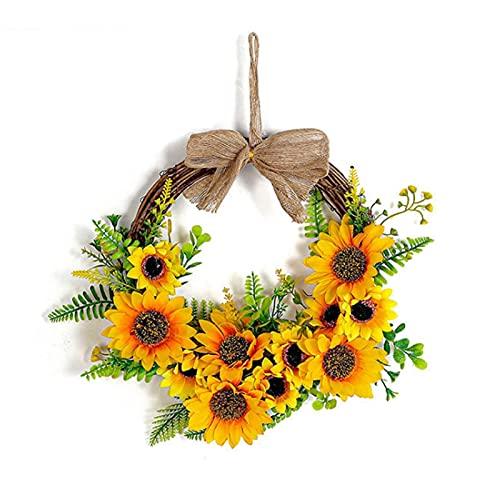 K-Park Guirnalda De Girasols Artificial Rama Decorativa De Primavera Verano Flores Artificiales Flores Artificiales para El Jardín del Hogar Decoración del Banquete De Boda Guirnalda Physical
