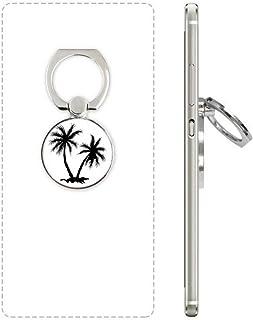DIYthinker Beach Coconut Tree Zwart Silhouette Mobiele Telefoon Ring Stand Houder Beugel Universele Smartphones Ondersteun...