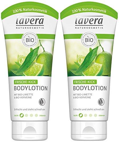 lavera Frische Kick Bodylotion Bio Limone ∙ Belebende leichte Emulsion, Erfrischtes Hautgefühl, Bio Pflanzenwirkstoffe, Naturkosmetik, Natural und innovative, Körperpflege 2er Pack (2 x 200 ml)