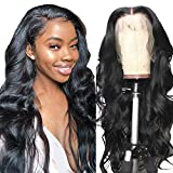 Alipearl Hair 150% Density Pre Plucked Human Hair Glueless Lace Front Wigs Brazilian Body Wave Human Hair wigs for Black Women Pre Plucked with Baby Hair Natural Hairline Ali Pearl Hair Wig(22 inch)