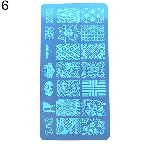YSHtanj - Molde rectangular de metal para manicura y manicura, herramienta de...