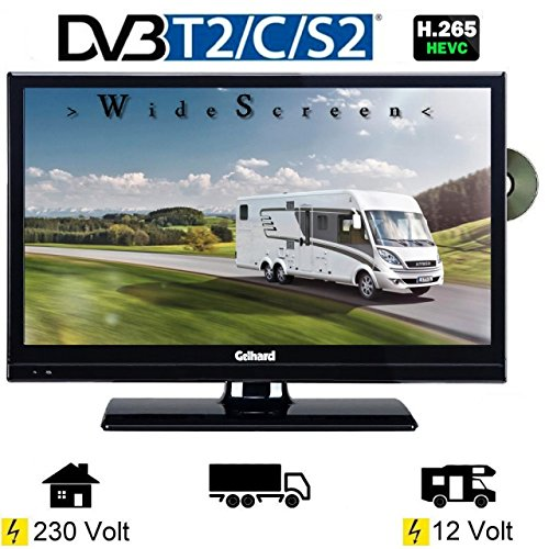 Gelhard GTV2042 LED TV 20 Zoll Wide Screen DVB/S/S2/T2/C, DVD, USB, 230/12 Volt