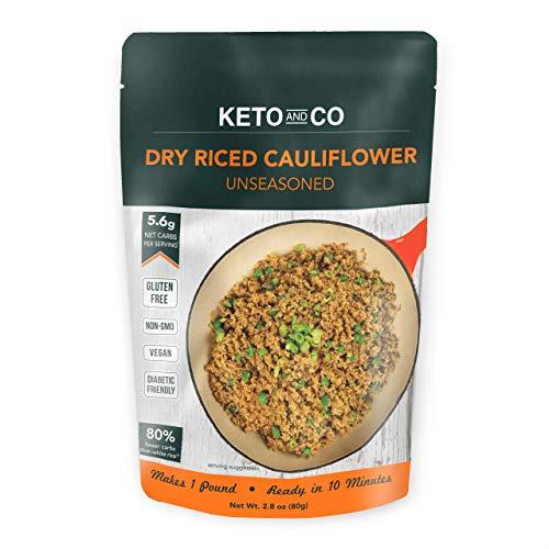 Keto and Co - Dry Riced Cauliflower - 5 Servings, 1lb Prepared
