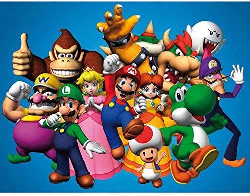 KELDOG® Super Mario legpuzzel houten puzzels 1000 stuk, intellectuele puzzel speelgoed, uitdagende volwassen en tiener casual puzzel
