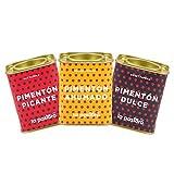 LA PASTORA   Pack de 3 Latas de Pimentón   Dulce + Picante + Ahumado   Latas de 75 gr.   100%...