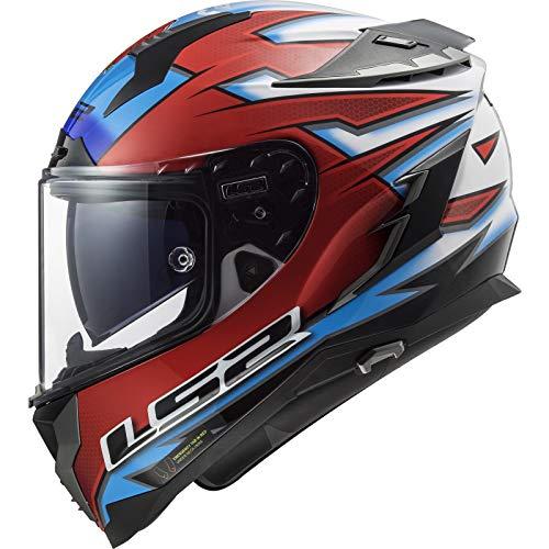 LS2 Casque Moto 2019 Ff327 Challenger - Carl Foggarty World Superbike Fo (Xxs, Rouge)