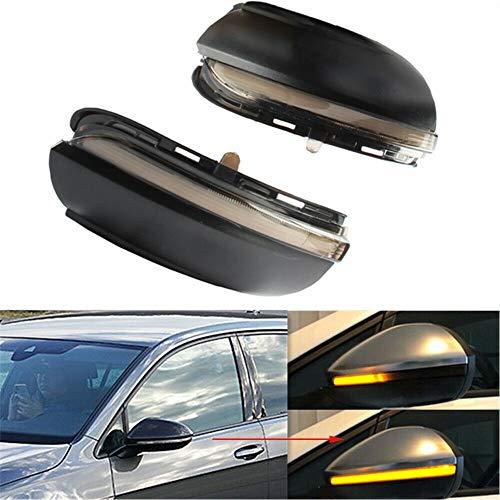 Ein Paar Dynamisches Blinker LED Spiegelblinker Blinkerleuchten passend für V-W Golf M-K6 GTI 6 R20 M-KVI Touran