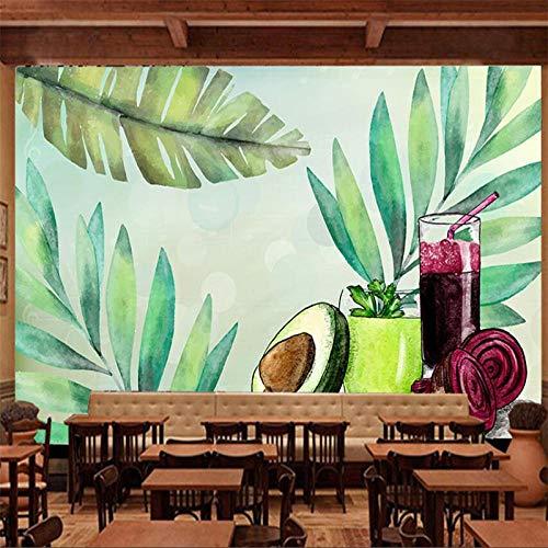 ZJfong handgeschilderde groenten en fruit voeding saus thee restaurant gereedschapswand individueel groot wandbehang 140 x 70 cm.