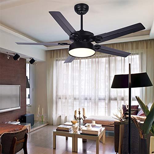 Allamp Modernos Ventiladores de Techo con Kit de Luces Control Remoto 3 Colores LED LED Moderno Decorativo para Habitaciones Dormitorio Comedor (Blade Color : Iron Fan Blade, Voltage : 220V)