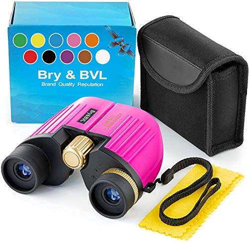 Girls Toys – Hottest Toys for Christmas 2020 - Birthday Present – Toys for 3 4 5 6 7 + Year Old Girls – 8X22 Binoculars for Girls – Juguetes para niñas – Kids Binoculars Girls for Bird Watching – Pink