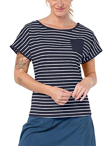 Jack Wolfskin Damen TRAVEL Striped T-Shirt, midnightblue Stripes, L