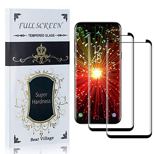 Bear Village Displayschutzfolie für Galaxy S8 Plus, 99% Transparenz Schutzfilm aus Gehärtetem Glas für Samsung Galaxy S8 Plus, Blasenfrei, 9H Härte, Anti Kratzen, 2 Stück