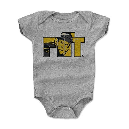 500 LEVEL Sidney Crosby Pittsburgh Baby Clothes, Onesie, Creeper, Bodysuit (Onesie, 6-12 Months, Heather Gray) - Sidney Crosby Pitt Y