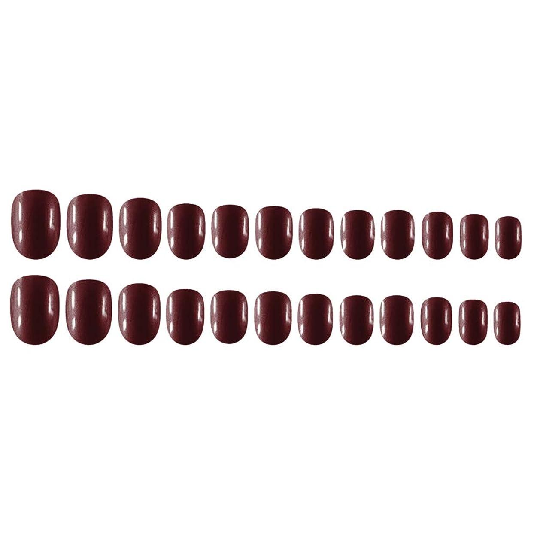 相続人羊の操るDecdeal Decdeal ネイルチップ 24ピース 12異なるサイズ diy サロン ネイルアートツール 偽