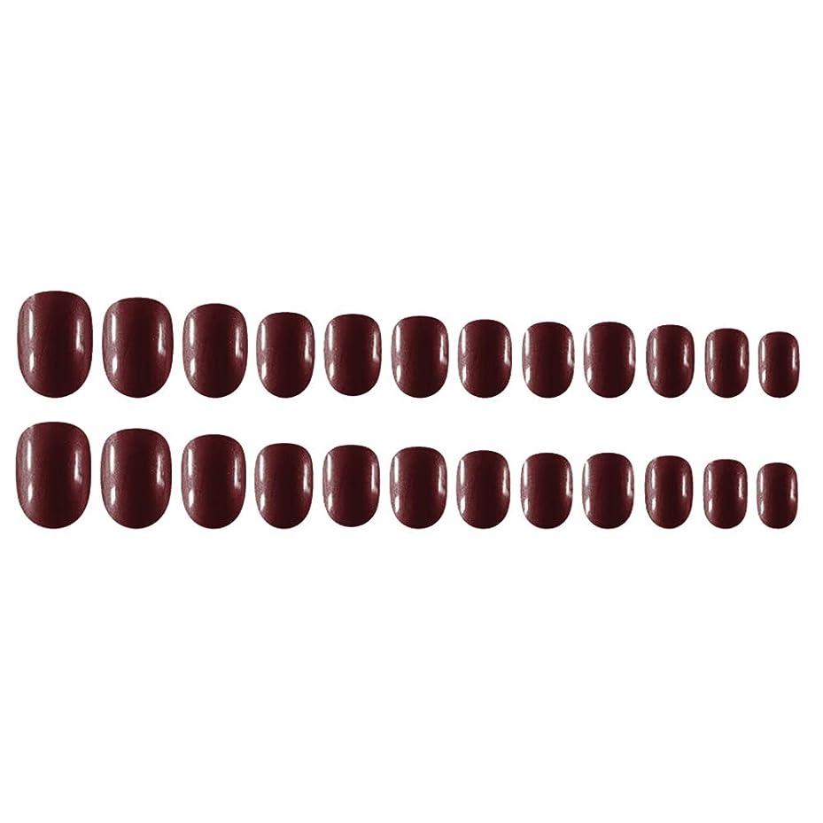 落花生スリル姿勢Decdeal Decdeal ネイルチップ 24ピース 12異なるサイズ diy サロン ネイルアートツール 偽