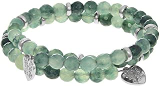 Dyed Jade - Cut Green - Small Bangle Bracelet - 50mm Diameter With Brass Elements