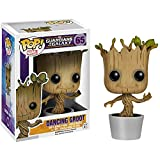 Funko Dancing Groot: Guardians of The Galaxy x POP! Marvel Vinyl Figure & 1 POP! Compatible PET Plastic Graphical Protector Bundle [#065 / 05104 - B]