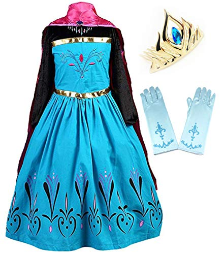 Coronation Costume Long Cape for Girls with Accessories Tiara crown...