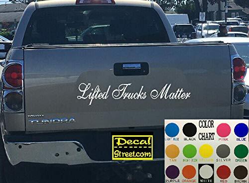 Heftrucks Matter Tailgate Die Cut Vinyl Sticker Visor Banner 4x4 Diesel Truck SUV