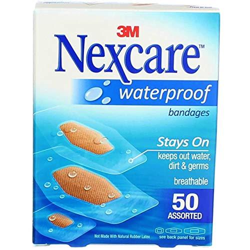Nexcare wasserdichte transparente Bandagen, verschiedene Größen, 50 Stück