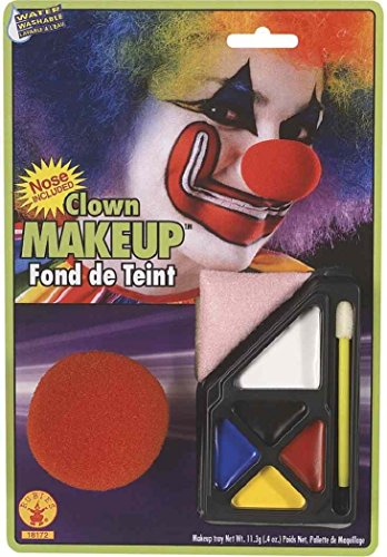 Clown Makeup Kit Circus Red Nose Fancy Dress Halloween Costume Accessory