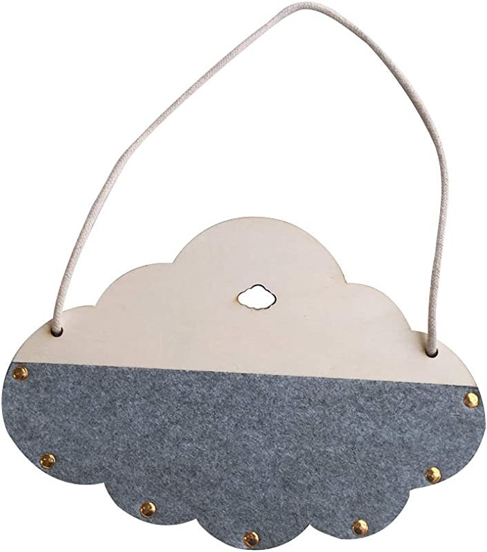 Move On Lovely Round Cloud Wall Decoration Hanging Ornament Pen Brush Holder Kids Room Storage Box Room Decor Grey Cloud Board
