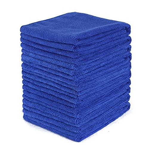 YINHUI 100 PCS Coche Sin-Scrosaje Pulido de Polvo Polvo Polvo 30CMX30CM Limpieza de Microfibra Toalla de Tela (Color : Blue)