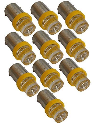 Aerzetix 10 x gele T4W 12 V LED-lamp voor binnenverlichting, plafondverlichting, drempellichten, motorruimte en stam kentekenplaatverlichting C10268